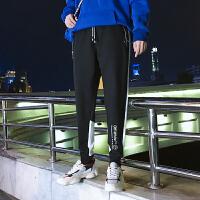 韩版九分裤男潮青少年修身束脚裤男士休闲裤黑色运动裤子哈伦长裤YC-851