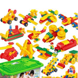 【当当自营】【当当自营】邦宝儿童益智拼装积木玩具塑料168大颗粒拼插3岁男孩玩具6510