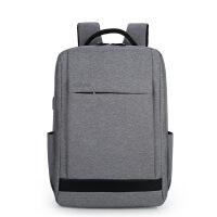新款笔记本电脑背包双肩男士商务苹果电脑包多功能旅行背包可
