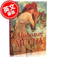 现货 新版 阿尔丰斯・穆夏 绘画作品集 画集 英文原版 Alphonse Mucha 精装大开本 意大利Skira出品