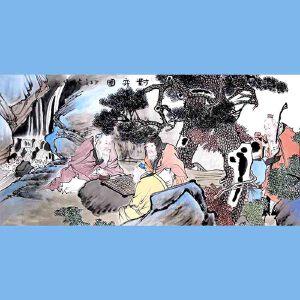 中国青年美术家协会常务理事,中国扇子艺术学会会员,中国山水画院专业画家,山东美术家协会会员,国家一级美术师高云鹏(对弈图)
