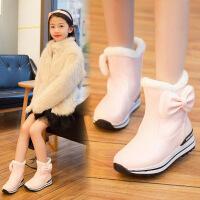 童鞋儿童雪地靴女童靴子2017新款秋季女孩短靴加绒韩版大童棉鞋