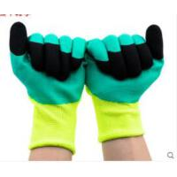 劳保耐磨工作带胶干活防滑加厚工地搬砖线手套带胶皮护手防护老保