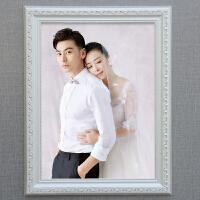欧式实木相框挂墙照片框12 18 24 30 36寸婚纱照片相框拼图框画框