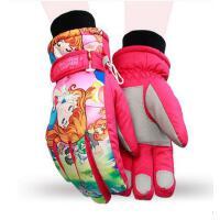 手套 男女儿童滑雪手套 防风保暖手套 加厚男女少年手套学生防寒大童保暖滑雪手套