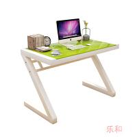 台式电脑桌钢化玻璃办公桌子组装家用简约现代写字台学习书桌 白色 长140*宽60*高75