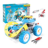 儿童STEM拼装螺母拆装电动工程机械积木diy组装汽车模型拼插玩具