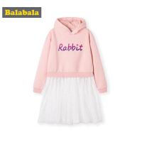 巴拉巴拉女童t恤儿童上衣2019新款秋冬中大童打底衫加绒保暖甜美