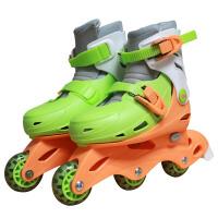 儿童溜冰鞋轮滑鞋直排轮三轮滑冰鞋旱冰鞋宝宝可调滑轮鞋