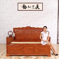 包邮简迪红木家具红木床卧室家具主卧实木床1.8米花梨木大床双人床中式仿古经济型婚床