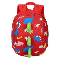 嘉迪奴新款儿童书包恐龙卡通幼儿园背包可爱烫花防走失书双肩包