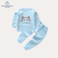加绒加厚保暖内衣男女童6-12个月宝宝装秋衣秋裤婴儿套装