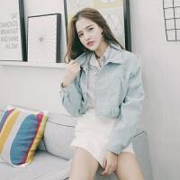 社会女装外套韩版学生宽松bf高腰短款小个子女生灯芯绒开衫春秋潮