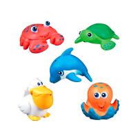 【当当自营】满趣健(munchkin)海洋动物喷水玩具5个装 儿童洗澡玩具沐浴玩具 宝宝玩水玩具戏水玩具