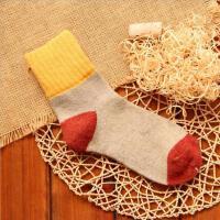 5双装秋冬款加厚兔羊毛女袜子毛圈翻边中筒袜民族风百搭保暖女袜