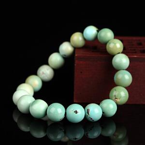 原矿高瓷高蓝绿松石圆珠手串 直径9mm 22.18g