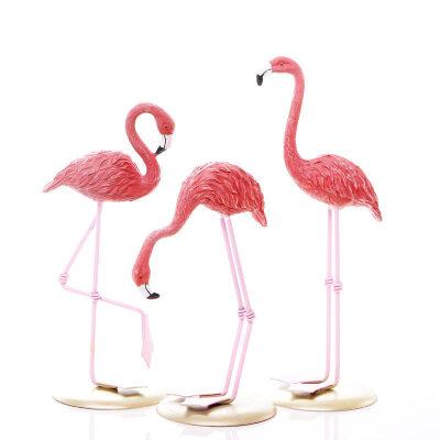 火烈鸟小摆件简约现家里室内房间玄关居家具装饰品个性创意
