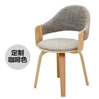 转椅办公卧室书桌电脑椅子家用书房现代简约懒人靠背单人学生 浅 实木脚