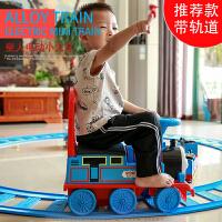 越诚托马斯小火车套装轨道儿童玩具车可坐人男孩电动火车轨道车