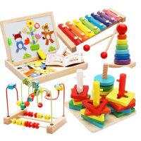 儿童绕珠串珠6一12个月婴幼益智玩具4男孩女宝宝积木0-1-2周岁3岁