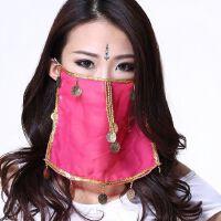印度舞面纱肚皮舞面纱巾手纱 舞蹈表演 服装配饰 饰品蒙脸面纱