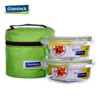 韩国进口钢化玻璃保鲜盒微波炉饭盒2件套