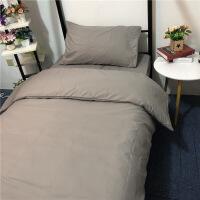 床单三件套 学生宿舍单人被套寝室男女生纯色被罩3四件套床上用品
