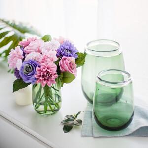 【每满100减50】幸阁 插花水培花器现代感彩色小花瓶 手工花插