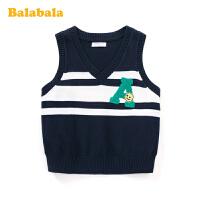 巴拉巴拉儿童马甲宝宝外套男童装2020新款春装学院风纯棉针织背心