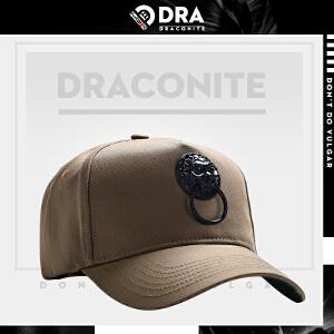 DRA中国风潮牌鸭舌帽子男女个性复古狮子头弯檐帽
