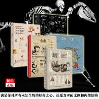 未读探索家5册 正版现货 博物学家的神秘动物图鉴+探险家的传奇植物标本簿+海怪2册+演化 西方版的山海经 科普读物 新