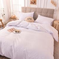 【官方旗舰店】白色床单被罩四件套 简约北欧ins酒店民宿被套单人学生宿舍三件套