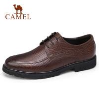 camel骆驼男鞋 秋季新款商务正装皮鞋牛皮商务办公差旅系带皮鞋