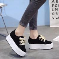厚底时尚增高鞋学生休闲鞋系带单鞋英伦松糕鞋子女鞋