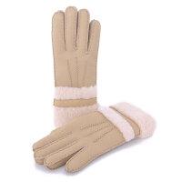冬季女士分指手套骑车保暖滑雪手套羊皮毛一体