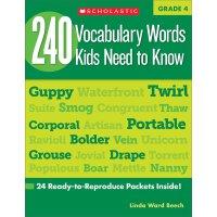 240 Vocabulary Words Kids Need to Know: Grade 4 英文原版 四年级孩子需
