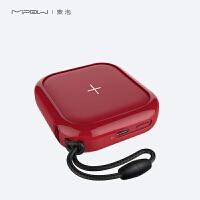 MIPOW �O果Xs Max�o�充���便�y小巧10000毫安迷你�p充iPhone8�o�充�器+充���二合一小米手�C通用移