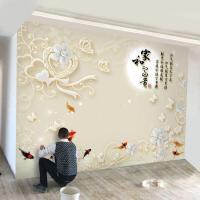 客厅电视背景墙壁纸自粘墙纸电视背景墙壁纸3D立体墙纸大气现代简约客厅5D壁画8d影视墙布装饰 墙纸+专用胶水