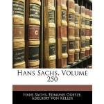 【预订】Hans Sachs, Volume 250 9781144580979
