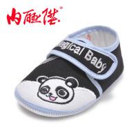 内联升 童鞋 婴儿鞋 学步鞋 布底防滑软胶粒宝宝卡通粘扣鞋 老北京布鞋 5387C