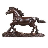 木雕马摆件实木马到成功生肖马红木雕刻风水工艺礼品