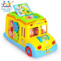 汇乐796智育校园巴士儿童益智车工程车儿童玩具1-3岁