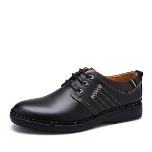 宜驰EGCHI 休闲鞋男士系带时尚耐磨商务休闲皮鞋 2107