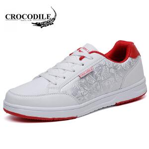 鳄鱼恤休闲鞋系带板鞋低帮鞋百搭潮流小白鞋舒适男鞋