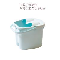加高养生小腿按摩泡脚桶足浴盆塑料洗脚便携式家用高深桶