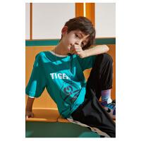 【3件2折:35元】小虎宝儿儿童装短袖T恤纯棉男童薄款上衣中大童2021新款潮