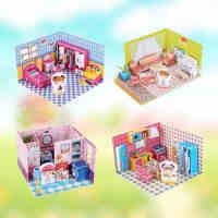 乐立方梦幻别墅3D立体拼图纸质小屋建筑拼装模型儿童手工益智玩具