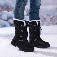 冬季雪地靴女户外防滑防水东北棉鞋女中筒加厚加绒保暖棉靴女靴子