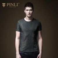 PINLI品立2020春季新款男�b修身�A�I短袖T恤上衣男潮牌B191211033