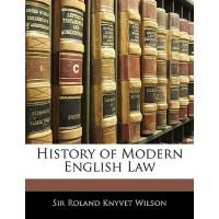 【预订】History of Modern English Law 9781142986841